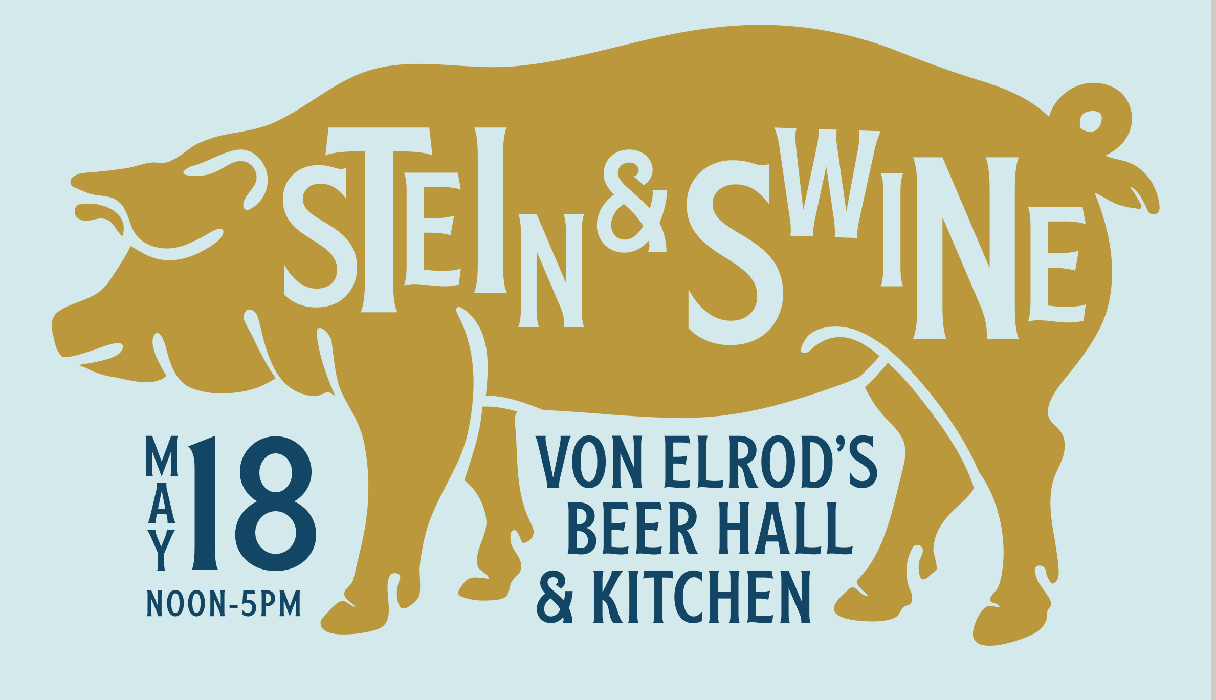 stein and swine poster